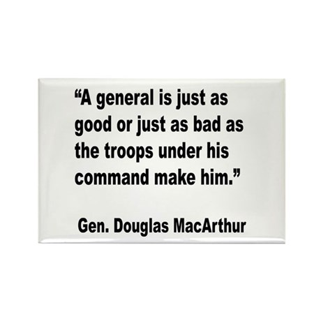 MacArthur General and Troops Quote Rectangle Magne