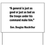 MacArthur General and Troops Quote Yard Sign