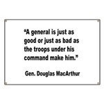 MacArthur General and Troops Quote Banner