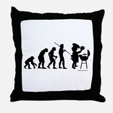 Barbecue Evolution Throw Pillow
