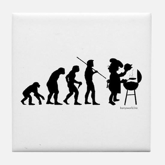 Barbecue Evolution Tile Coaster