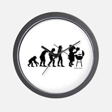 Barbecue Evolution Wall Clock
