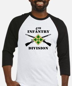 4th Infantry Division (2) Baseball Jersey