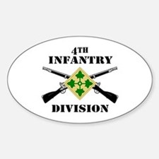 4th Infantry Division (2) Oval Decal