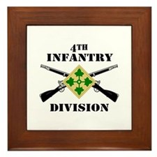 4th Infantry Division (2) Framed Tile