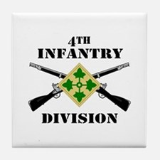 4th Infantry Division (2) Tile Coaster