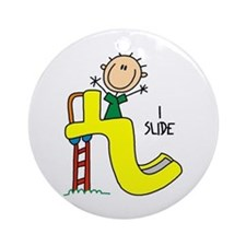 I Slide Ornament (Round)