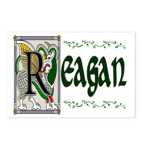 Reagan Celtic Dragon Postcards (Package of 8)