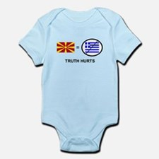 Macedonian not Greek Infant Bodysuit
