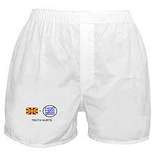 Macedonian not Greek Boxer Shorts