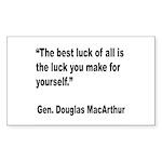 MacArthur Best Luck Quote Rectangle Sticker 10 pk