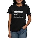 MacArthur Best Luck Quote (Front) Women's Dark T-S