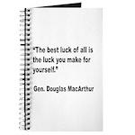 MacArthur Best Luck Quote Journal