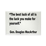 MacArthur Best Luck Quote Rectangle Magnet (10 pac