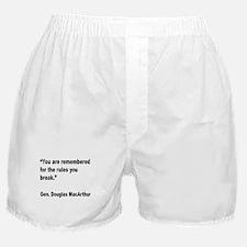 MacArthur Break Rules Quote Boxer Shorts
