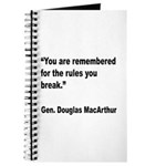 MacArthur Break Rules Quote Journal