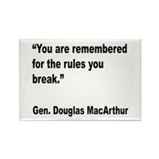 MacArthur Break Rules Quote Rectangle Magnet