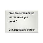 MacArthur Break Rules Quote Rectangle Magnet (10 p