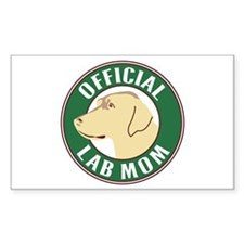 Yellow Lab Mom - Rectangle Decal