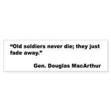 MacArthur Old Soldiers Quote Bumper Bumper Sticker