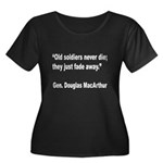 MacArthur Old Soldiers Quote (Front) Women's Plus