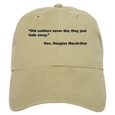 MacArthur Old Soldiers Quote Baseball Baseball Cap