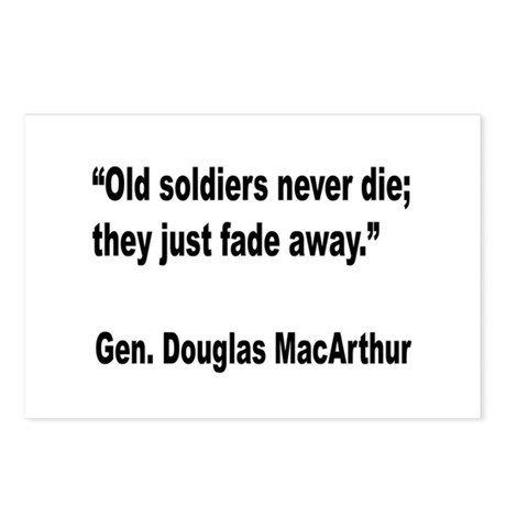 MacArthur Old Soldiers Quote Postcards (Package of