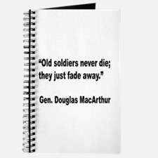 MacArthur Old Soldiers Quote Journal