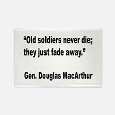 MacArthur Old Soldiers Quote Rectangle Magnet