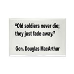 MacArthur Old Soldiers Quote Rectangle Magnet (10