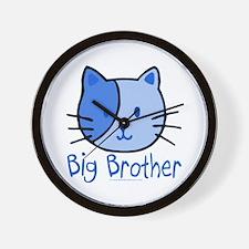 Cat Blue Big Brother Wall Clock