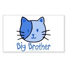 Cat Blue Big Brother Rectangle Decal