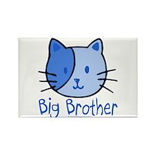 Cat Blue Big Brother Rectangle Magnet