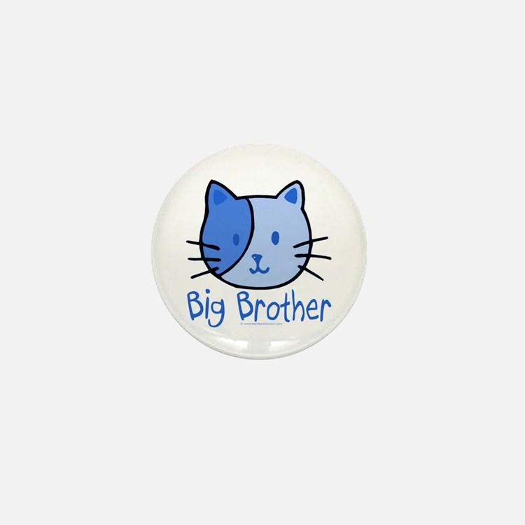Cat Blue Big Brother Mini Button
