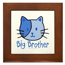 Cat Blue Big Brother Framed Tile