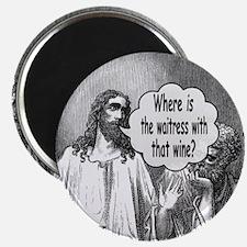 Jesus Wine Magnet