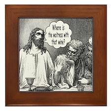 Jesus Wine Framed Tile