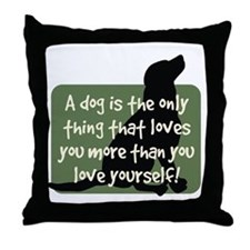 Black Lab Love Throw Pillow
