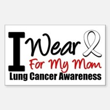 I Wear Pearl For My Mom Rectangle Sticker 10 pk)
