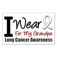 I Wear Pearl For My Grandpa Rectangle Sticker 10