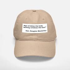 MacArthur Quitting Quote Baseball Baseball Cap