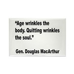 MacArthur Quitting Quote Rectangle Magnet (10 pack