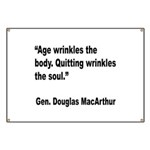 MacArthur Quitting Quote Banner