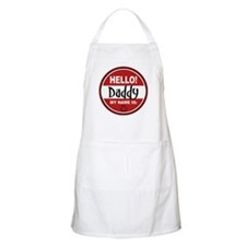Hello My Name is Daddy BBQ Apron