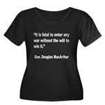 MacArthur Will to Win Quote (Front) Women's Plus S