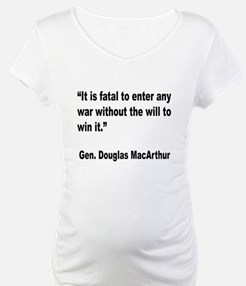 MacArthur Will to Win Quote Shirt