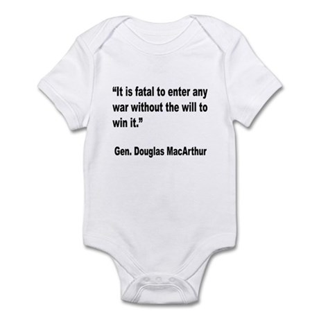 MacArthur Will to Win Quote Infant Bodysuit