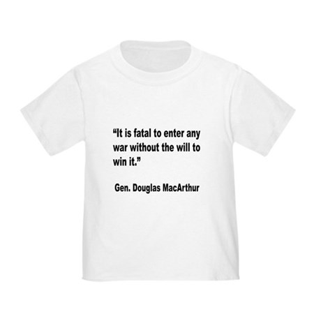 MacArthur Will to Win Quote (Front) Toddler