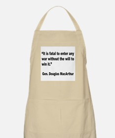 MacArthur Will to Win Quote BBQ Apron