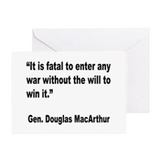 MacArthur Will to Win Quote Greeting Card